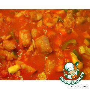 Рецепт: Солянка с колбасками-гриль Благодать