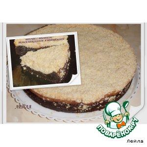 Рецепт Брауниз с творогом, белым шоколадом и штрейзелем