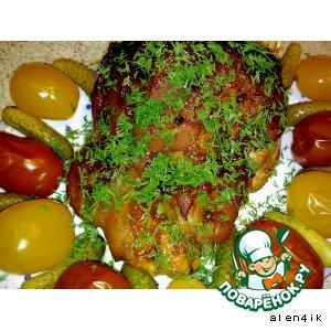 Рецепт: Свиной окорок по старинному немецкому рецепту