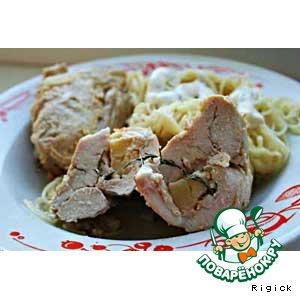 Рецепт: Вкусняшка из курицы с сыром