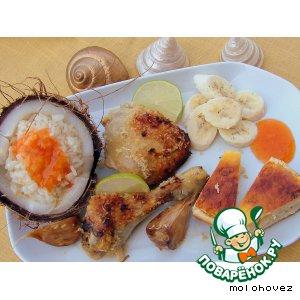 Рецепт: Куриные ножки в кокосовой стружке Фиджи