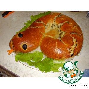 "Рецепт: Пирог ""Змейка"""