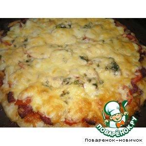 Рецепт: Пицца на кефирном тесте