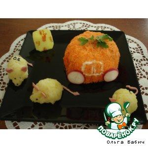 Рецепт: Салат по сказке Золушка