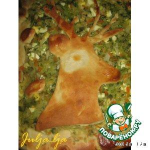 Рецепт: Пирог с капустой Олень