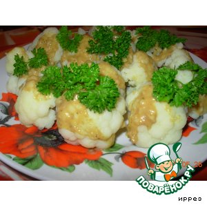 Рецепт: Салат из цветной капусты с маринадом