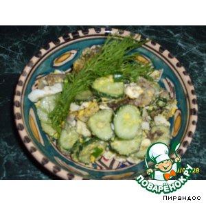 Рецепт: Салат под кодовым названием В доме жрать нечего...