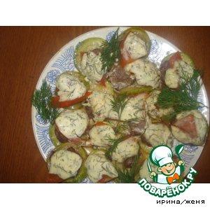 Рецепт: Кабачки, запеченные с фаршем