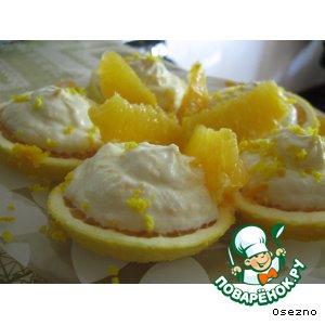 Рецепт: Апельсиновый творожок
