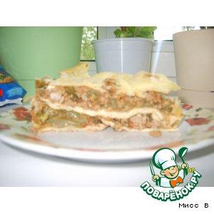 Рецепт: Овоще-мясная лазанья