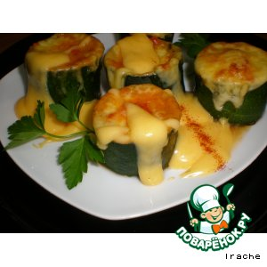 Рецепт: Фаршированные кабачки с ирландским соусом