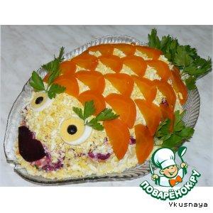 Рецепт: Селедка под шубой