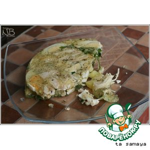 Рецепт: Холодец с курицей