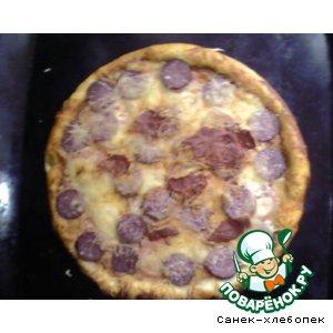 Рецепт: Пицца Солнышко
