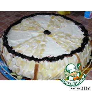 Рецепт: Торт с черной смородиной