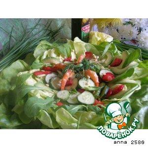 Рецепт: Летний салат Цветное настроение