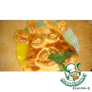 Рецепт: Пирог с мясом и картофелем Коровушка