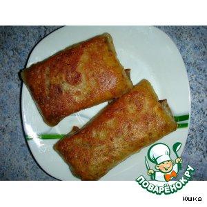 Рецепт Блины с сыром (на сыворотке)