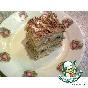 Рецепт: Пирожные «Тирамису с киви»