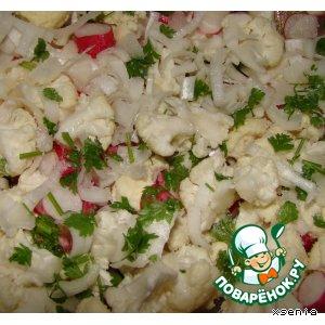 Рецепт: Салат из цветной капусты и редиса
