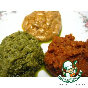 Three Pesto sauce