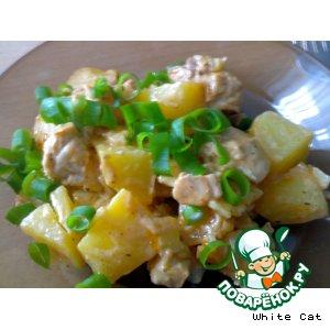 Рецепт: Курица в горшочках