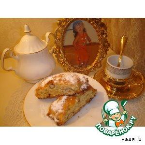 Рецепт: Печенье из белого шоколада с фундуком