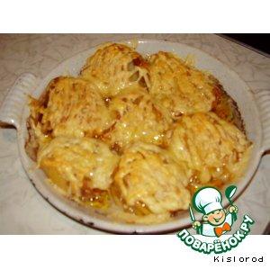 Рецепт: Картофельные веера с сыром
