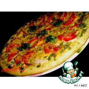 Рецепт: Лучшая пицца А-ля пепперони и двойной сыр