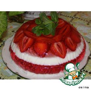 Рецепт: Желейный торт Загляденье