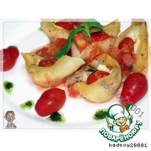 Рецепт: Кончильони с сыром и помидорами