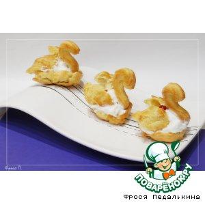 """Рецепт: Воздушный десерт """"Лебеди"""""""
