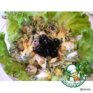 Рецепт: Рыбный салат Рыбкин