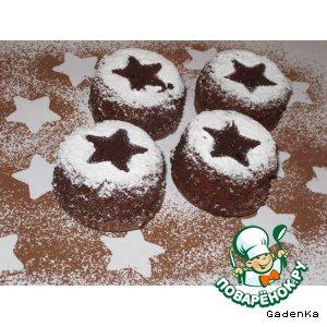 Рецепт: Шоколадно-сырное пирожное с малиной