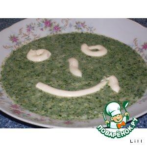 Рецепт: Рисовая кашка со шпинатом