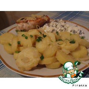Рецепт: Картофель тушеный на гарнир