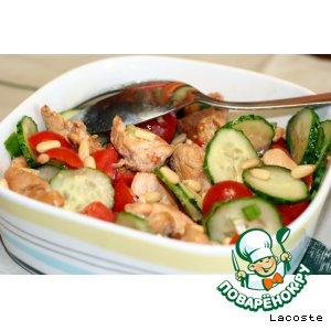 Рецепт: Салат из помидоров черри с курицей