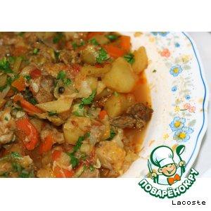 Рецепт: Рагу из овощей с бараниной