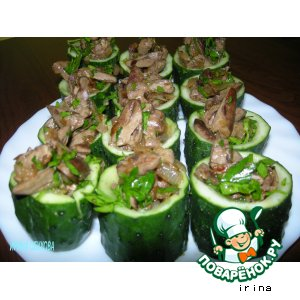 Рецепт: Чашечки из огурцов