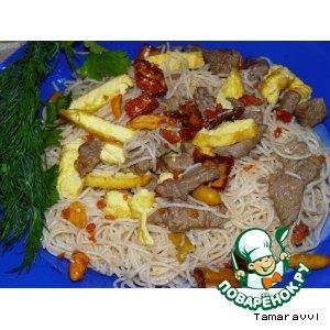 Рецепт Рисовая лапша с мясом