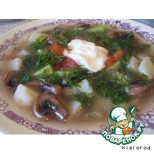 Рецепт: Грибной суп с кабачками
