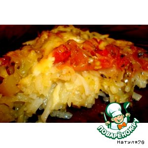 Рецепт: Картофельный тарт с овощами