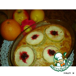 Oatmeal, baked with apples