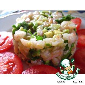 Рецепт: Тар - тар   из  креветок   и   авокадо
