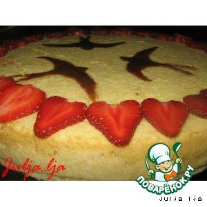 Рецепт: Нежнейший творожный пирог Ласточки