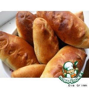 Рецепт: Пирожки капустные Шустрые)))