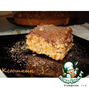 Пирожные с курагой, шоколадом и орехами