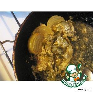 """Рецепт: Запечeнная рыба с соусом """"Тар Тар"""" (Магги отдыхает)"""