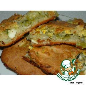 Рецепт: Быстрый капустный пирог