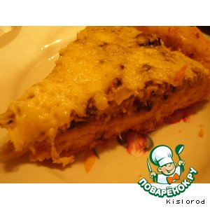 Рецепт: Открытый пирог А-ля жюльен